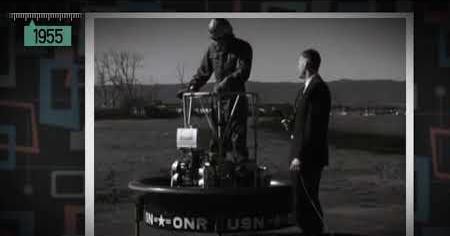 1950s: FLYING PLATFORM