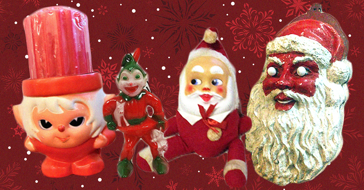 Superior These Vintage Christmas Decorations Are More Terrifying Than Halloween Ones